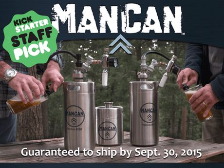 The ManCan 128: a one-gallon, personal keg system that keeps your favorite beer fresh, carbonated, and delicious--the way it should be!