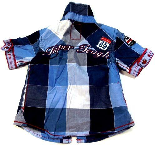 BRUMLA.CZ – Značkový dětský a dospělý second hand a outlet, použité oděvy pro děti a dospělé - Tmavomodro-modro-červená kostkovaná košile zn. Next