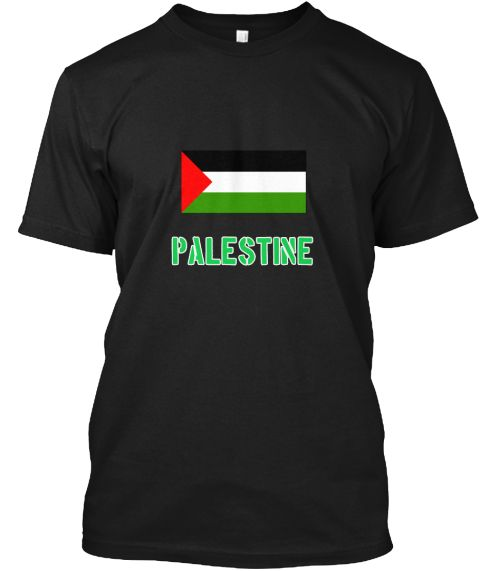 Palestine Flag Stencil Green Design Black T-Shirt Front - This is the perfect gift for someone who loves Palestine. Thank you for visiting my page (Related terms: I Heart Palestine,Palestine,Palestinian,Palestine Travel,I Love My Country,Palestine Flag, Palestine #Palestine, #Palestineshirts...)
