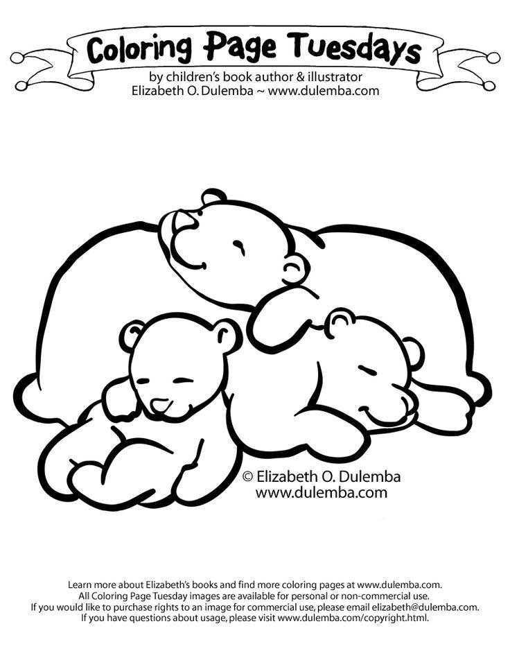 sleeping bears coloring page animal bear crafts bear coloring pages coloring pages. Black Bedroom Furniture Sets. Home Design Ideas
