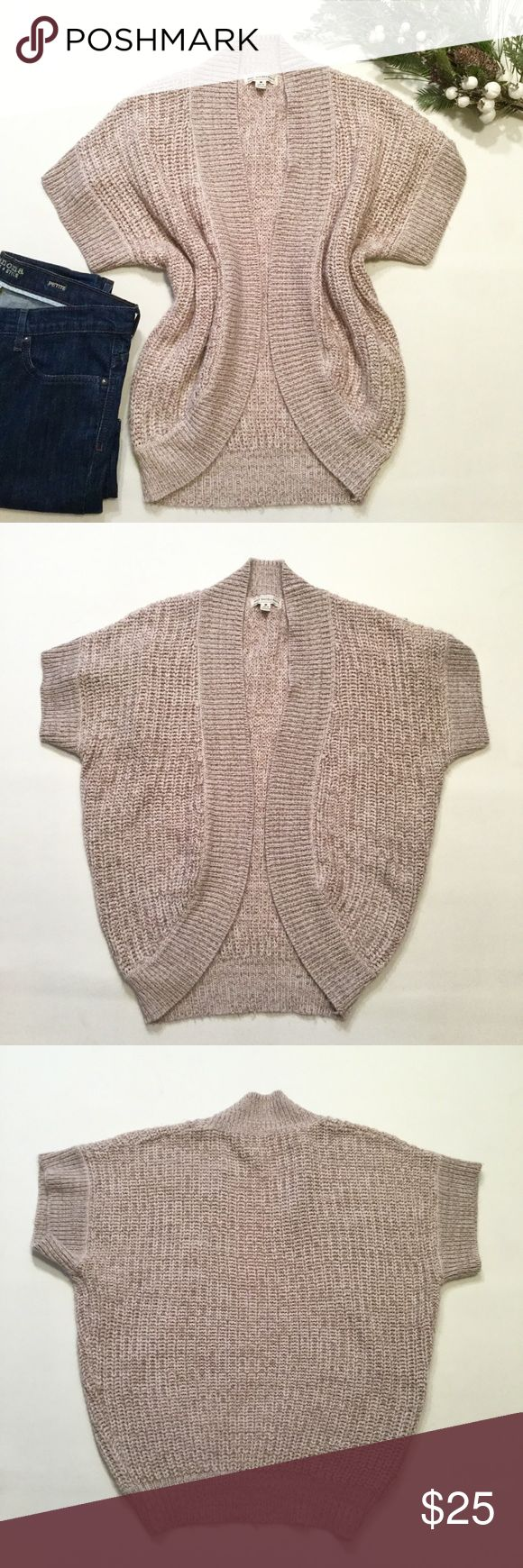 "Cocoon Cardigan Size medium. Tan color. Length approx 26"". Acrylic Poof Excellence Sweaters Cardigans"