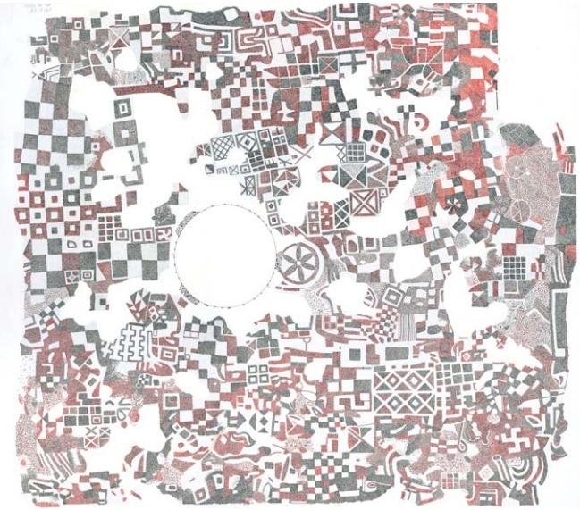 Megaron 2, Phrygian pebble mosaic from Gordion, 8th ...
