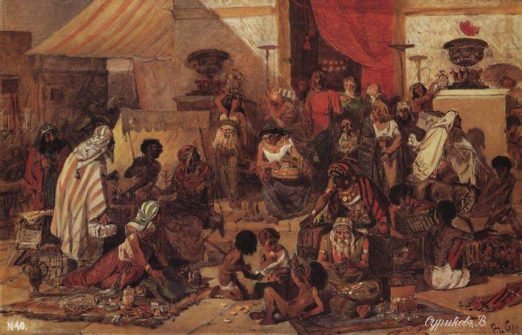 Изгнание Христом торгующих из храма.  1873