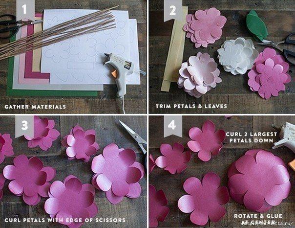 19 Moldes para hacer flores de cartulina