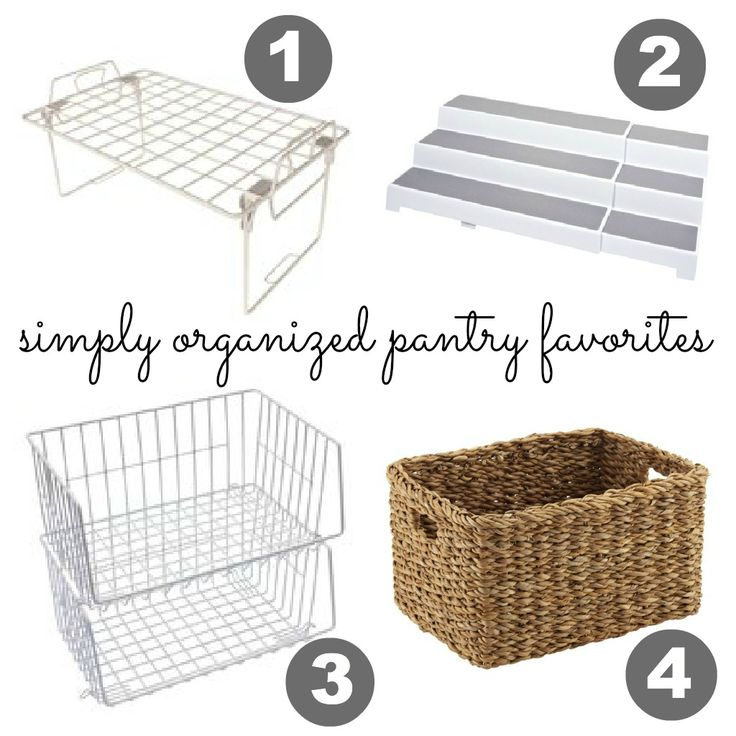 organized pantry & solutions for keeping it organized