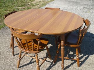 1960's temple stuart rockport dining table and 4 chairs vintage