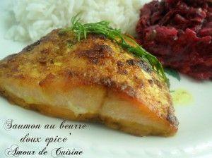 Saumon au four au beurre d'épices douces - Amour de cuisine