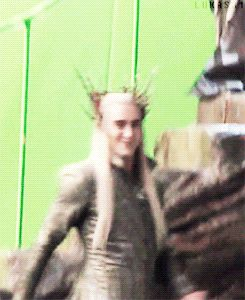 #LeePace stunning as #Thranduil behind the scenes. I love the contrast between the part he plays and the real him behind the scenes.