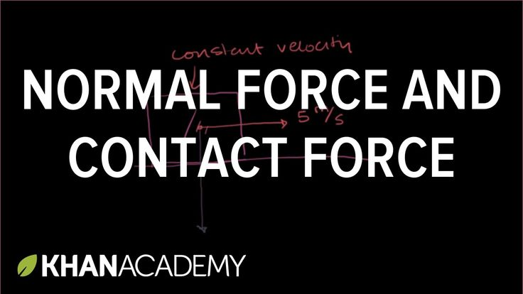Normal force and contact force | Forces and Newton's laws of motion | Ph...