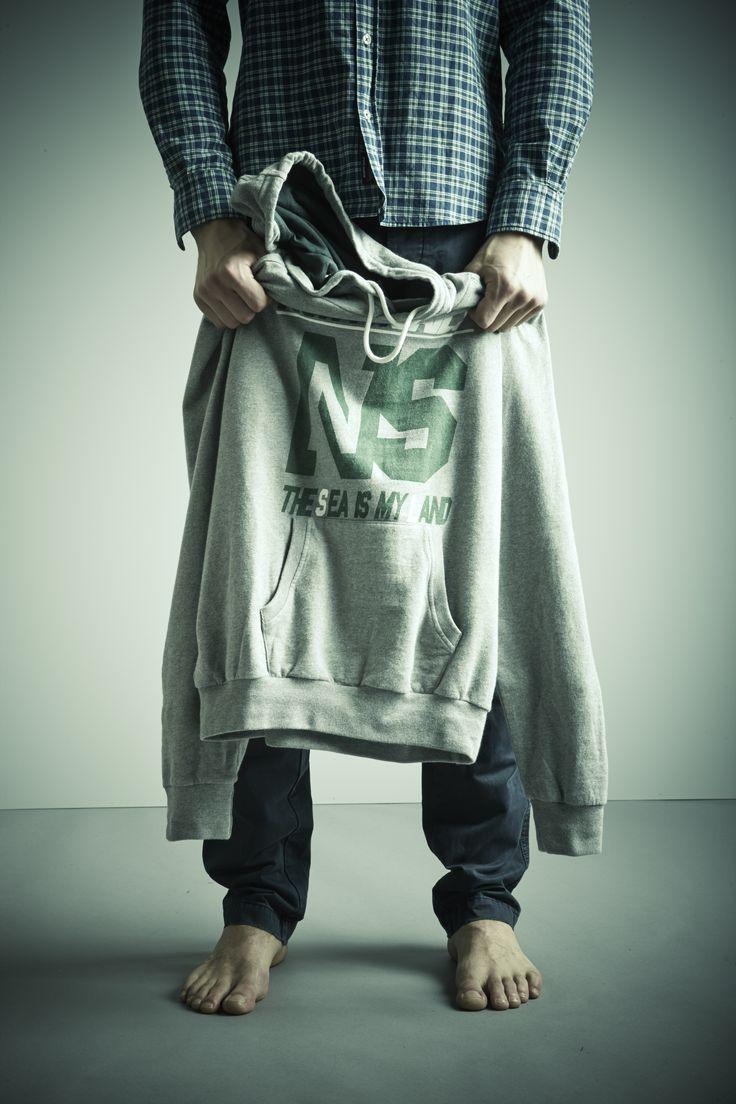 #NorthSails #Lookbook #collection #fall #winter #2014 #2015 #Hooded #sweatshirt #shirt #denim #Cesare #Medri
