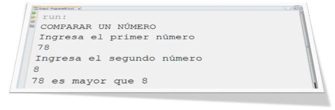 Programa en JAVA que evalúa un número