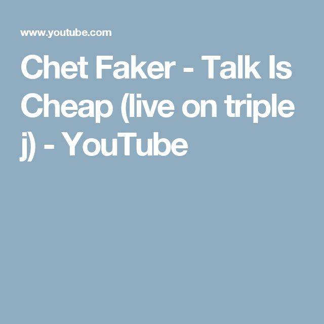 Chet Faker - Talk Is Cheap (live on triple j) - YouTube