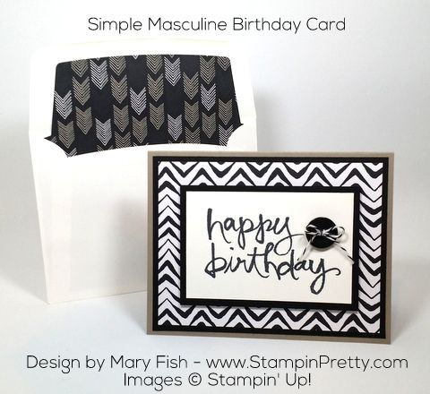 17 Best images about Masculine cards – Pinterest Stampin Up Birthday Cards