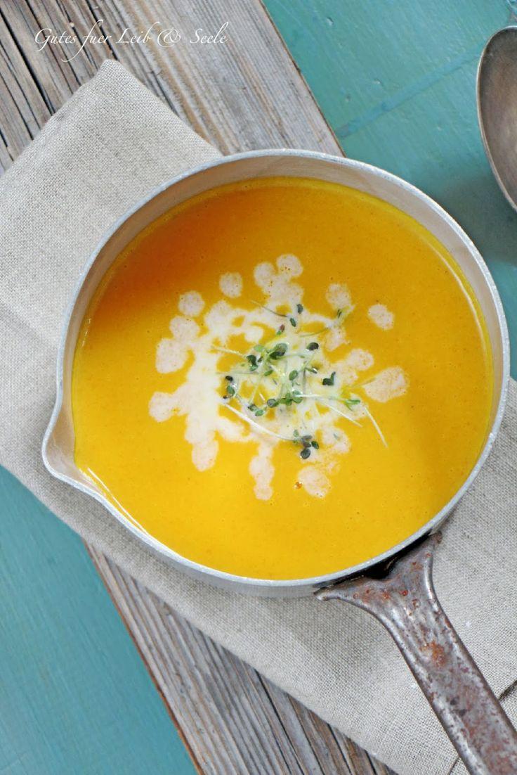 Karotten-Kokos-Ingwer-Orangen-Suppe