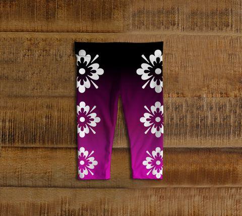 Super Flower - Magenta Baby Leggings