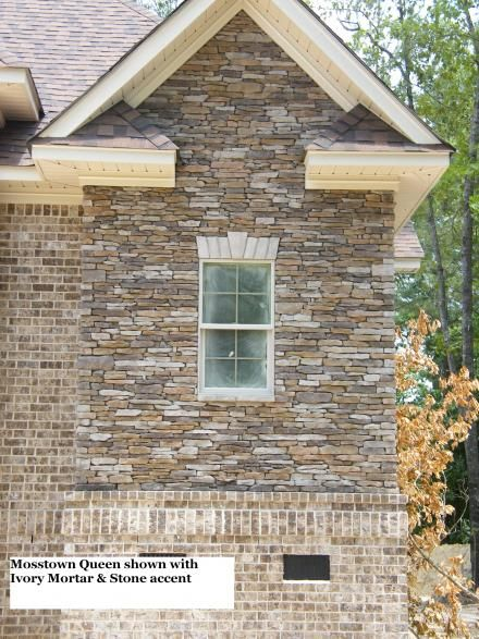 Mosstown With Ivory Mortar Stone Accent Home Pinterest