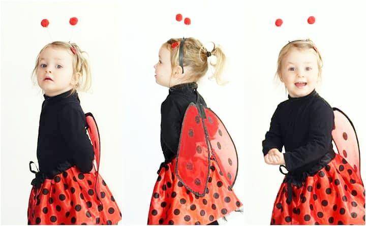 Coccinelle demoiselle  Joyeux mardi gras   Lya est partie faire la fête à la mam ce matin   #mardigras #carnaval #costume #coccinelle #mygirl #cutegirl