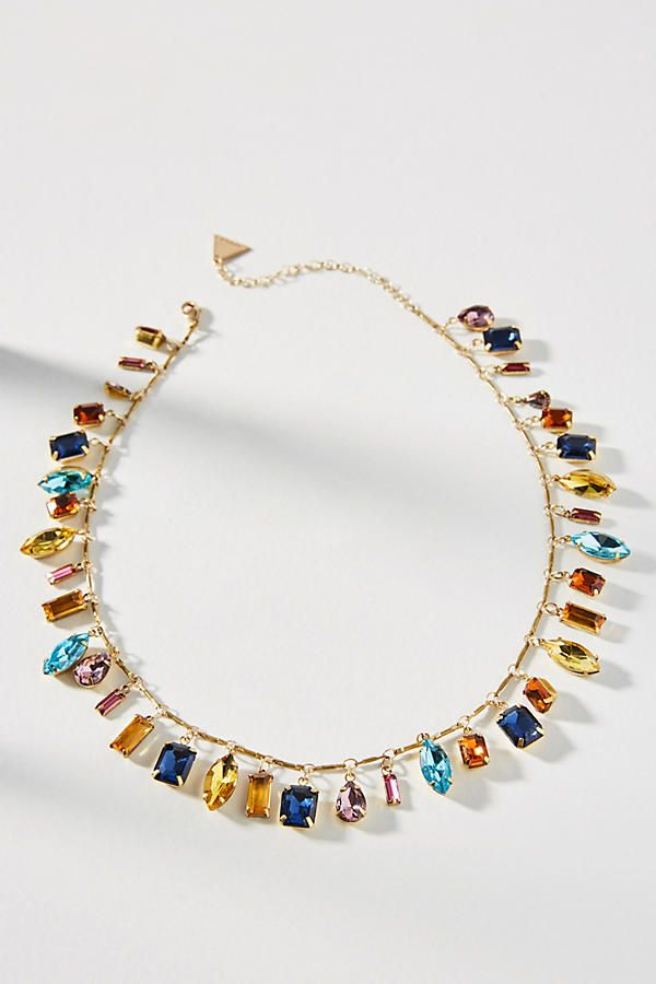 Slide View: 1: Candy Charm Bib Necklace  try this with lampwork beads or gemstone nuggets