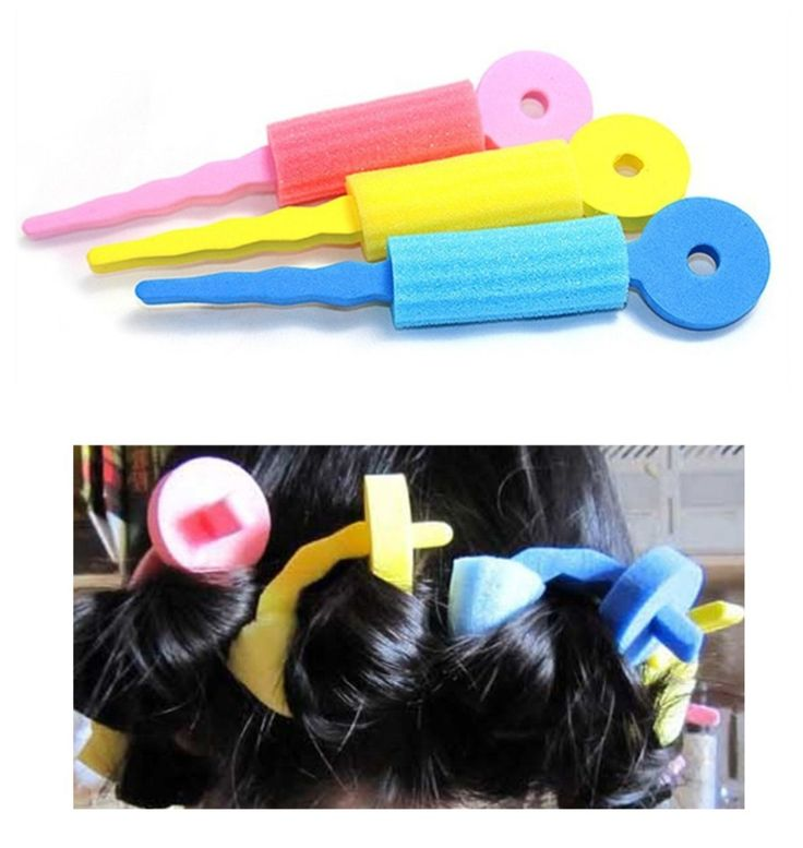 Sponge DIY Hair Rollers Curlers Twist Spiral Styling Tools 6Pcs/2Set Soft Hair Curler Sponge Spiral Curls Roller DIY Salon Tool