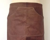 Leather Apron - Brown Leather Apron Welding Aprons Leather - Restaurant Bar Barista Cafe Aprons - Leather Aprons Gifts for Him - Handmade UK