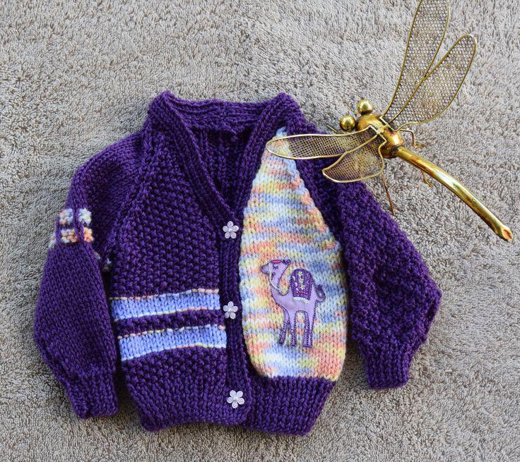 Hand knitted Baby Girl Cardigan 0-3mths by HandmadebyAuntyTart on Etsy