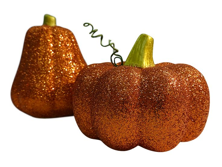 Glittered gourds from a collection of fall décor, $5 to $15. Rite Aid 703-413-5430