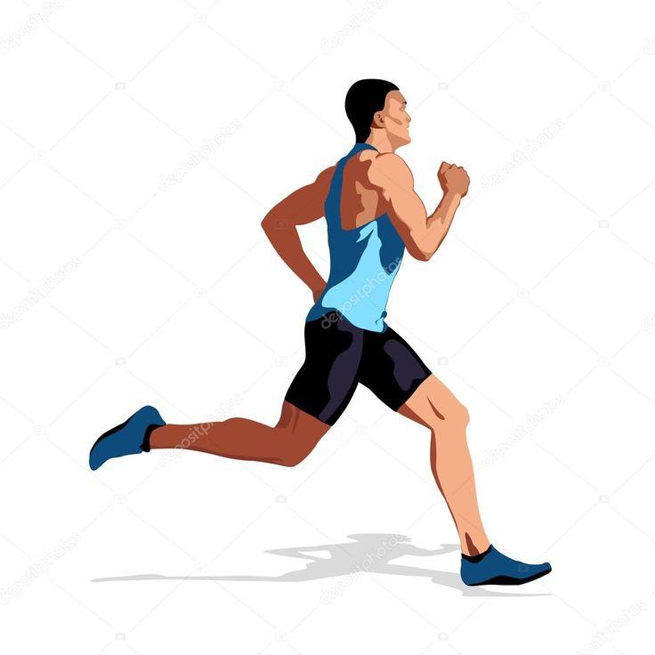 бегущий человек картинка рисунок