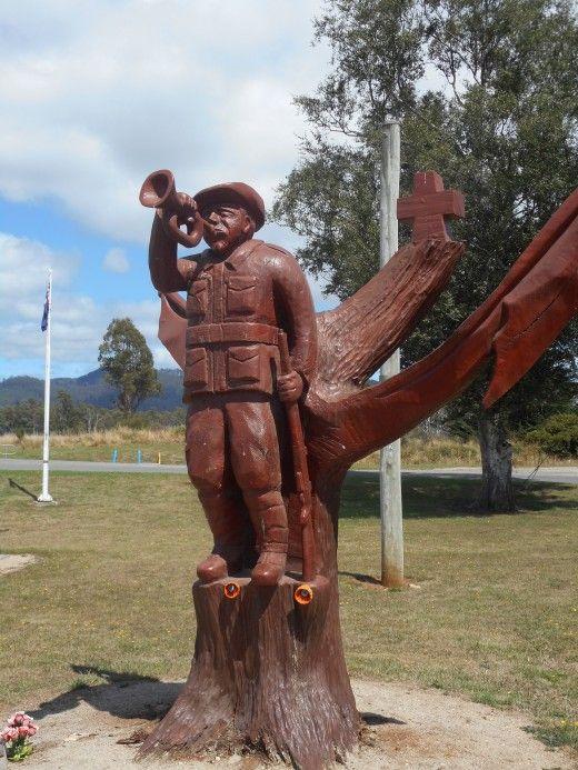 Legerwood's Anzac Memeorial - The Lone Bugler remembers a nations sacrifice