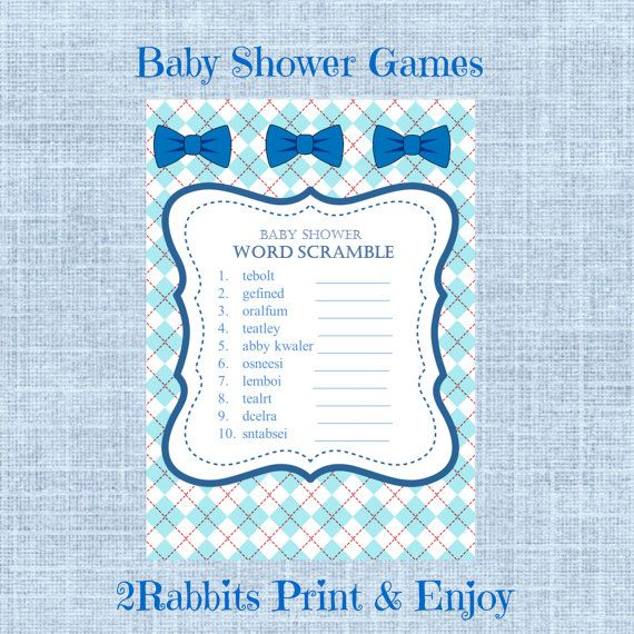 baby shower word scramble with answers bows baby shower word scramble ...