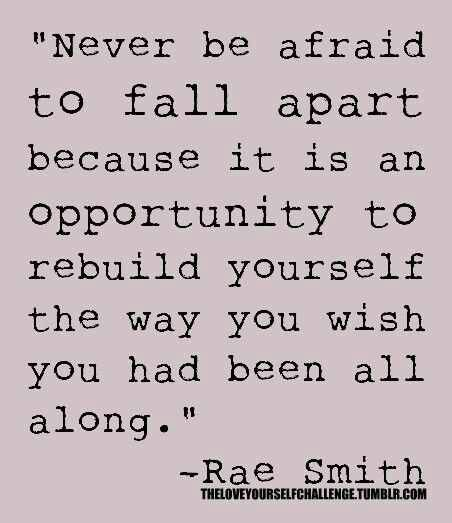 Divorce, new job, relocating, or simply deciding it's time for a change...all perfect opportunities to rebuild yourself into someone better.