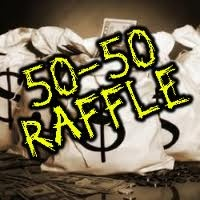 Always have a 50/50 ...     & a courteous person will donate the 50% they won back to the bride & groom {:o)