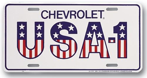 Chevrolet USA-1 License Plate