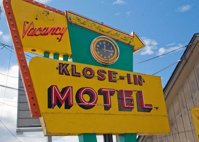 old motel signs in seattle | Sign with Clock--Klose-In Motel in Seattle