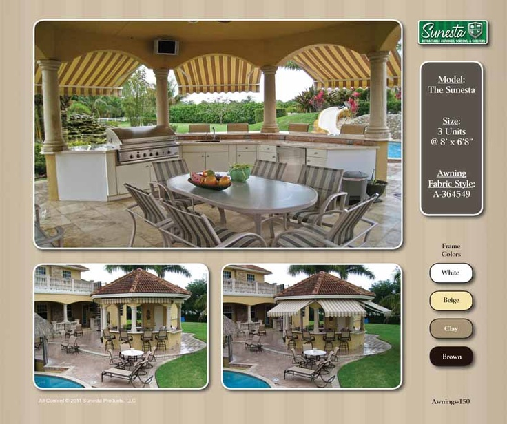 #NC #Tiki Bar Retractable #Awning | Sunesta | Gallery ...