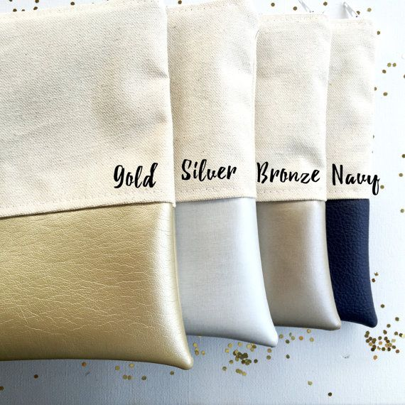 Personalizada maquillaje bolsas Dama de honor por BOLDbyTina