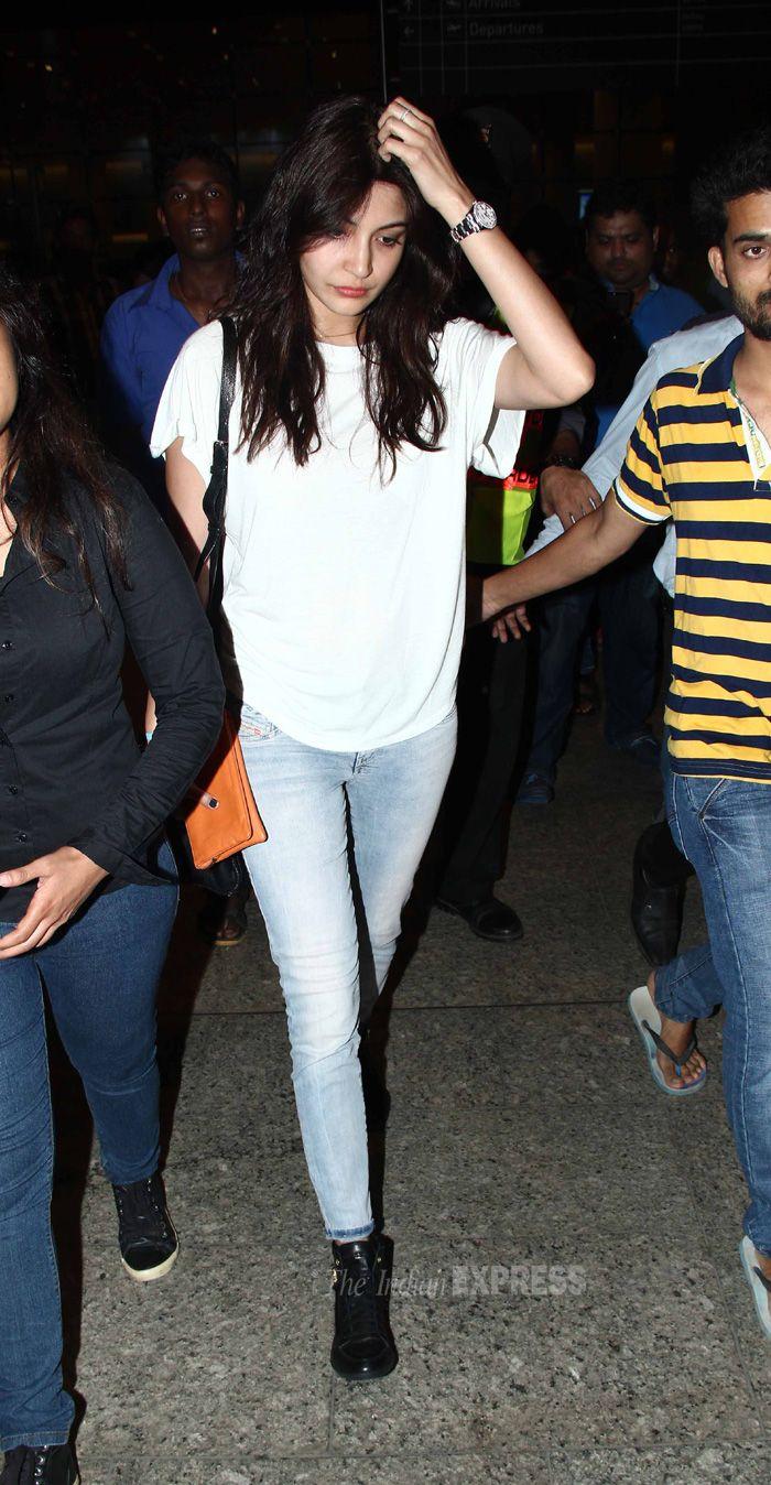 Anushka Sharma back in Mumbai post her Spain schedule of Zoya Akhtar's 'Dil Dhadakne Do'.