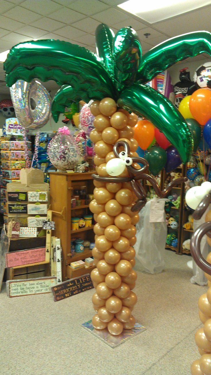 Where can you buy balloon arch kits in delaware - Palm Tree With Monkey Decor Sculpture By Balloonee Toonz