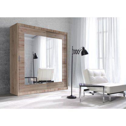 helvetia alfa 2 door wardrobe with mirror schiebetueren schrank