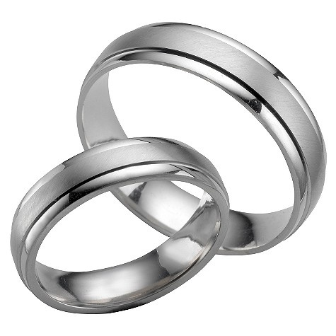 White Gold His Amp Hers Wedding Bands