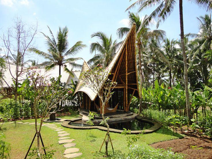 bamboo houses shape ibuku's green village community in thailand