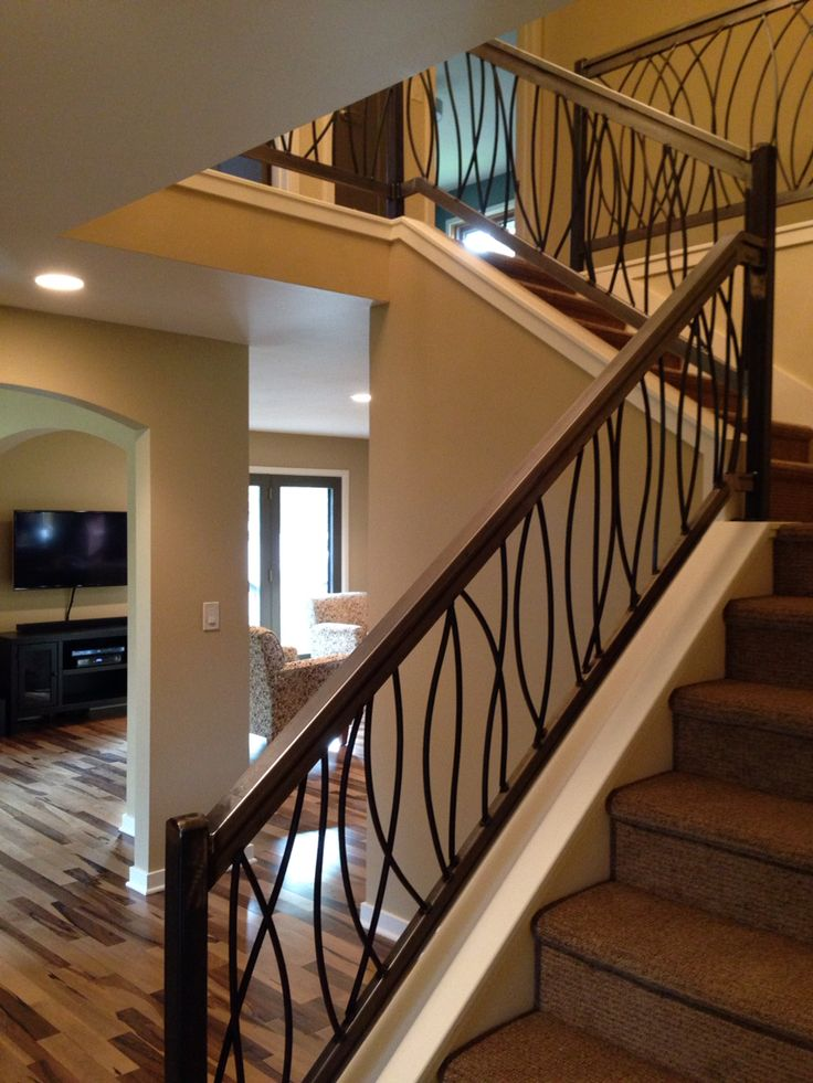 Custom Metal Stair Railings   Door design interior, Home ...