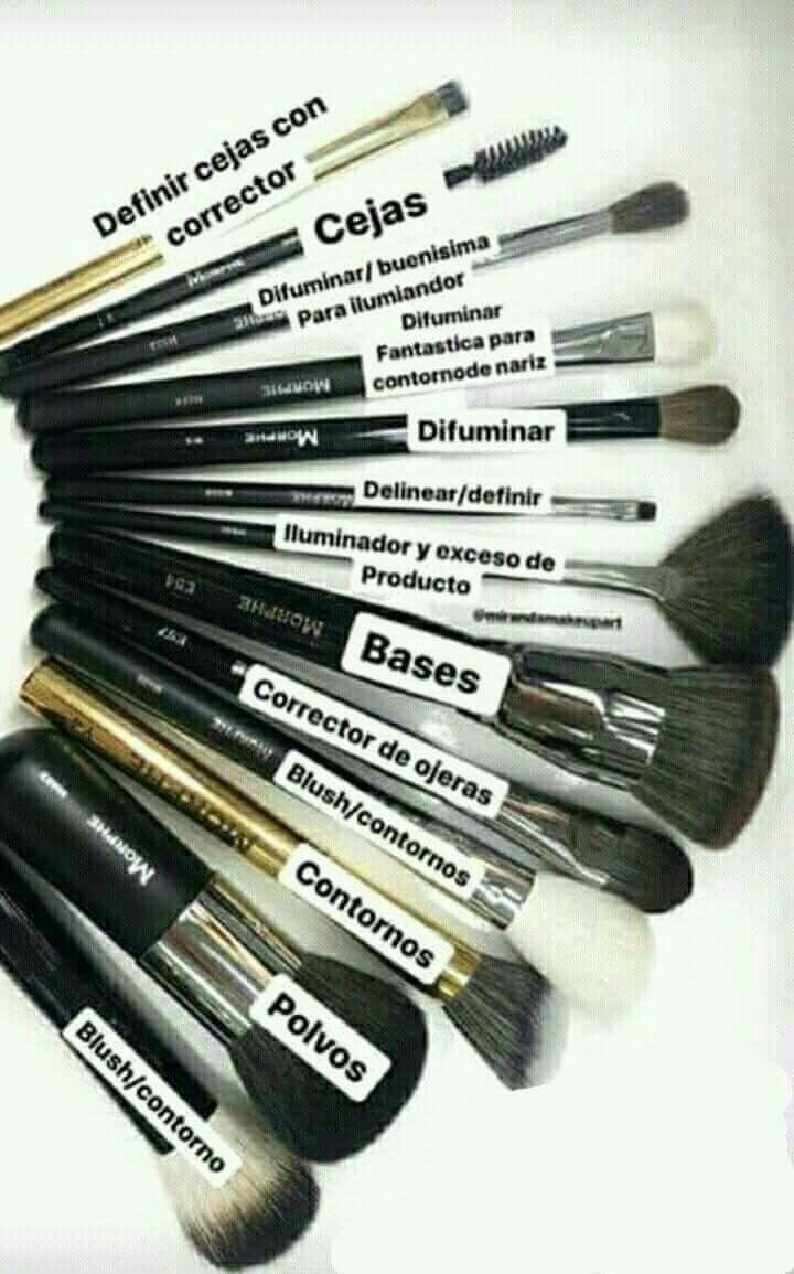 Uso de brochas | Maquillaje | Pinterest makeup, Makeup ...