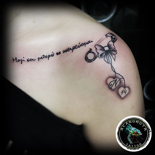 Forever with my little kido...sexy tattoo is a good suggestion for women tattoo by Acanomuta tattoo studio in Athens
