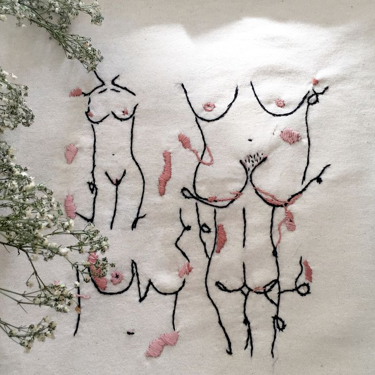 Hand embroidered t-shirt Instagram @shakirra.rees