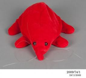 2009/74/1 Soft toy, Puggle in a bag, cloth / plastic / metal, made by Mattel Toys, United States of America, c. 1983 - Powerhouse Museum Col...