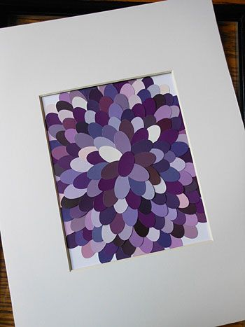 Paint Chip Art - what fun to do this with kids! Let them design their own patterns, and watch their creativity blossom!