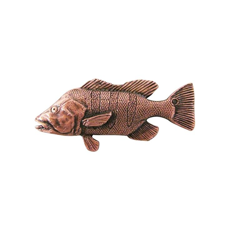 Copper ~ Premium Peacock Bass ~ Lapel Pin / Brooch ~ FC094PR *** More details can be found by clicking on the image. #BroochesandPins