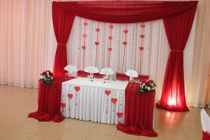 Decoración en Rojo mesa de honor