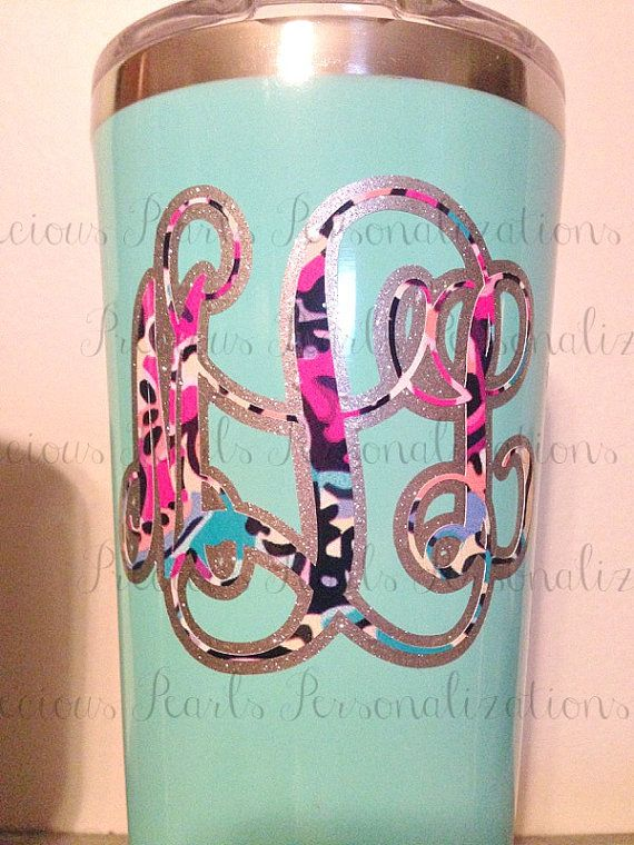 Lilly Print Vinyl Tumbler Decal  Tumbler by PreciousPearlsPPP