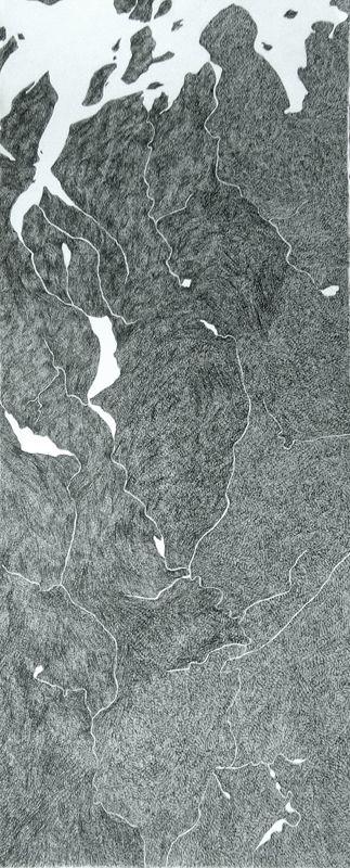 Ciara O'Brien, Norway, line drawing #drawing #landscape #art #irishart